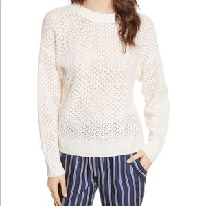 JOIE   Vedis Wool & Cashmere Blend White Sweater